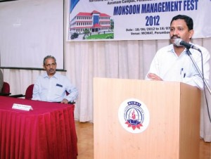 A session by Dr. K.A Zakkaria, Syndicate Member, Cochin University of Science and Technology and Professor, SMS, CUSAT.