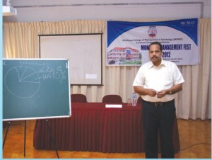 """Success in life is based on several factors such as knowledge, ability and hard work, but it is mainly based on attitude"" by Mr. Somasekharan A.N, Former General Manager, Madurai Coats."