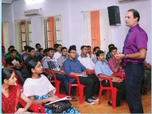 "A session on ""Self discovery"" by Mr. Sandeep K, Chief Executive, Glowmind Training Consultancy"