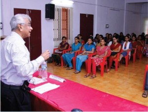 A talk on 'Living above the circumstances' by Dr. George Samuel, President, Navajeevodayam Bible College and Scientist specializing in the application of radio isotopes in medicine.
