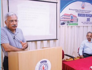 "A session on ""Ideal Economic Society"" by Mr. Jacob Mappilacherry, Chartered Engineer."